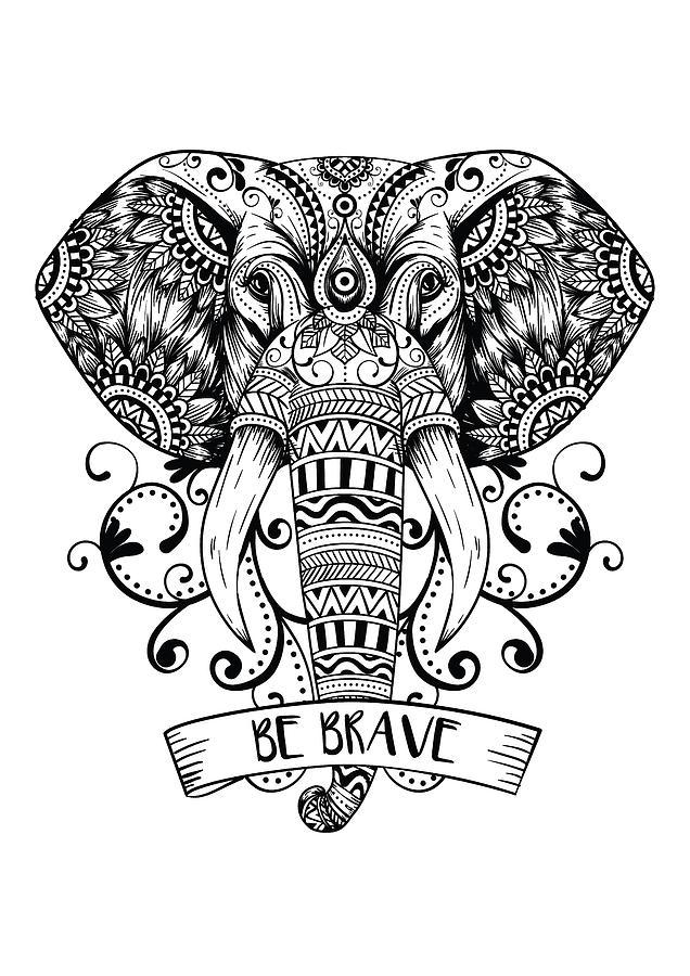 Mandala Elephant Digital Art By Tom Cage