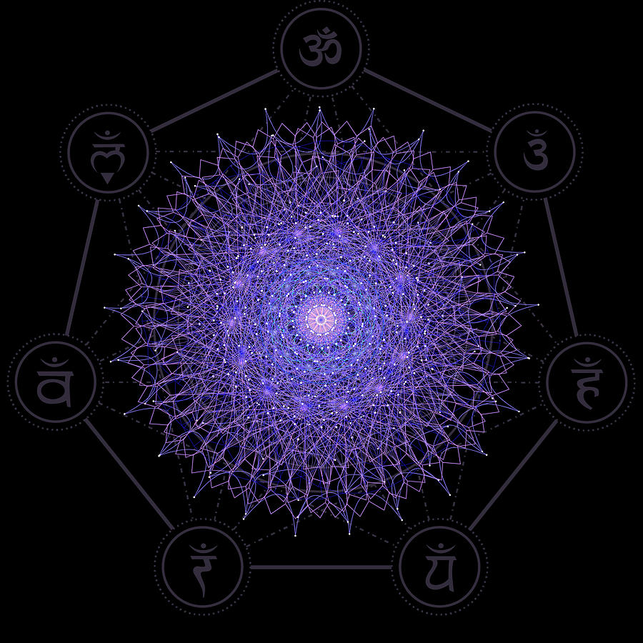 Mandala Fleur de Vie by Nathalie DAOUT