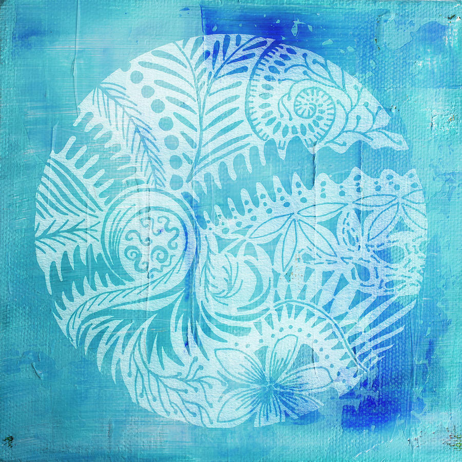 Mandala in blue and white by Jocelyn Friis