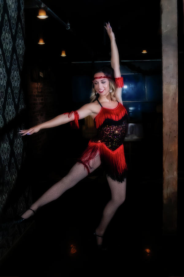 Mandy dancing in red 1920 outfit by Dan Friend
