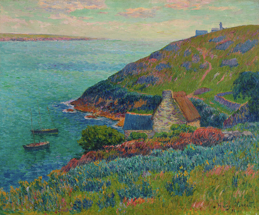 Manech port, 1896 Painting by Henry Moret