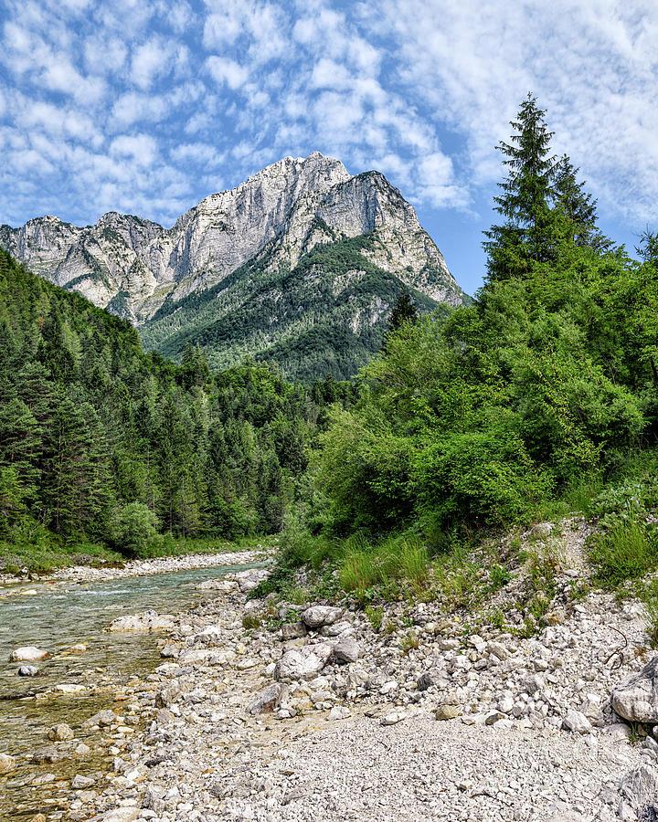 Mangart from the Koritnica River by Norman Gabitzsch