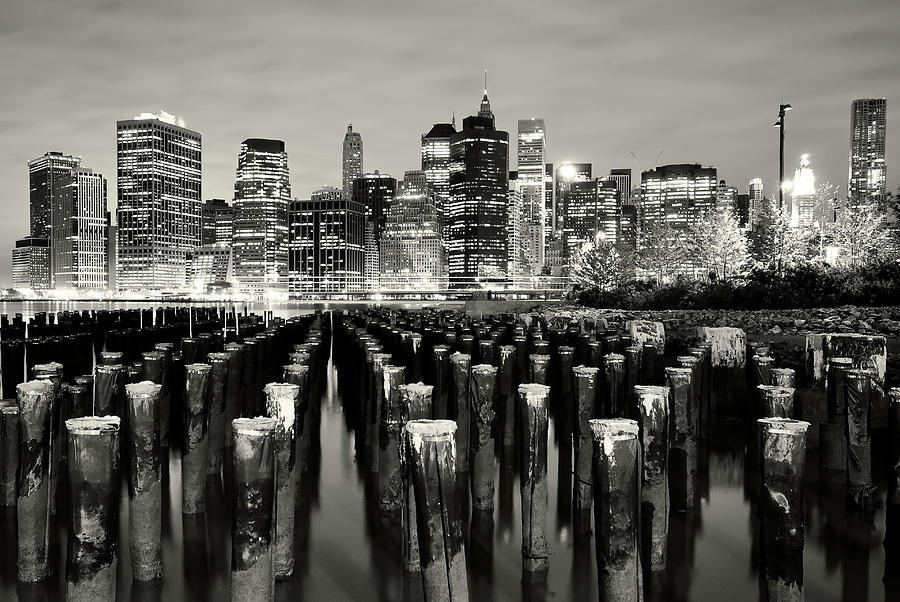 Manhattan At Night Photograph by Shobeir Ansari