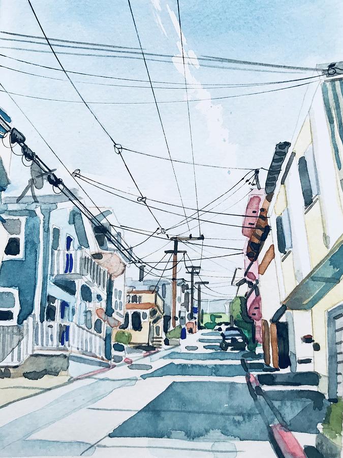 Manhattan Beach At El Porto Painting