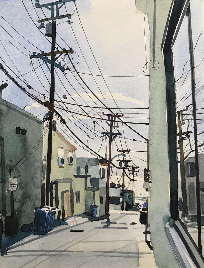 Manhattan Beach Reflections Painting