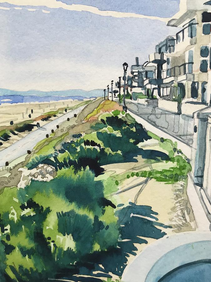 Manhattan Beach The Strand On A Sunny Day Painting