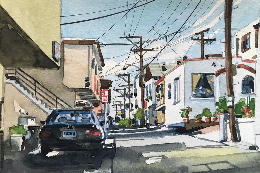 Manhattan Beach On Crest Avenue Painting