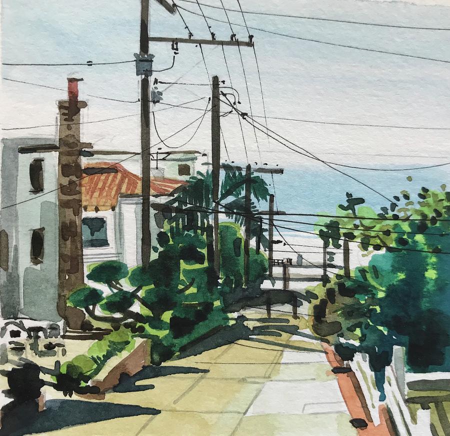 Manhattan Beach Towards The Strand Painting