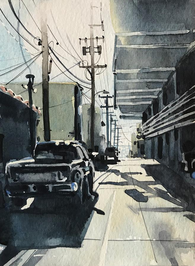 Manhattan Beach Alley #2 Painting