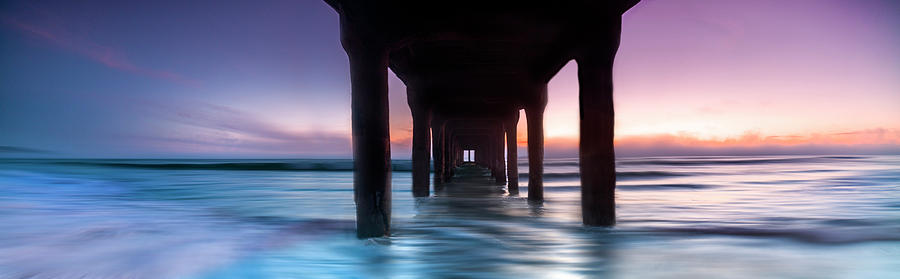 Ocean Pier Photograph - Manhattan Beach Pastels by Sean Davey