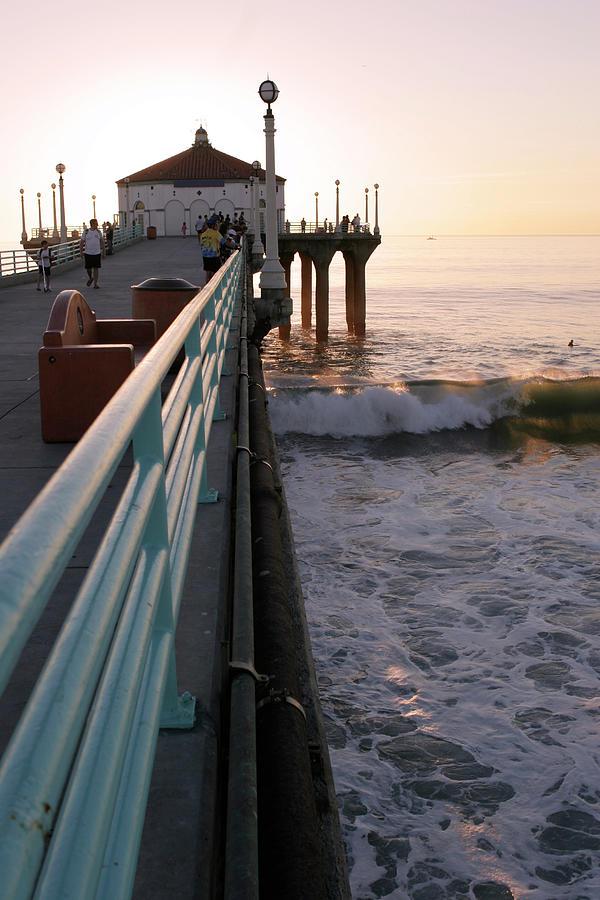 Manhattan Beach Pier Photograph by P wei