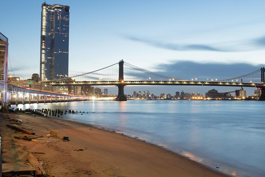 Manhattan Bridge Before Sunrise by Doug Ash