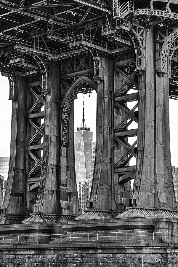 Manhattan Bridge Frames The WTC  by Susan Candelario