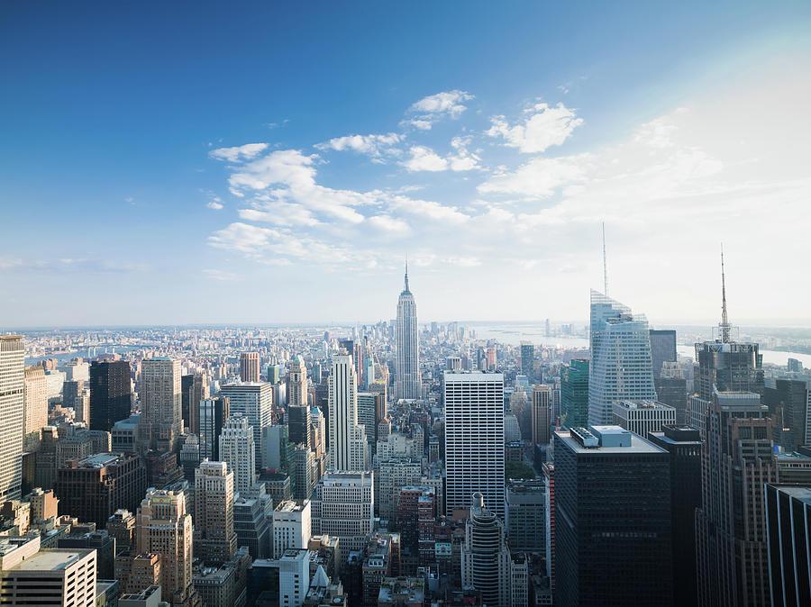 Manhattan New York City Skyline Photograph by Mlenny