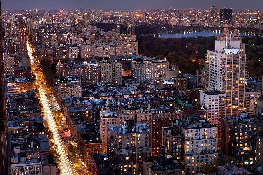 Manhattan Night View Photograph by Marcaux