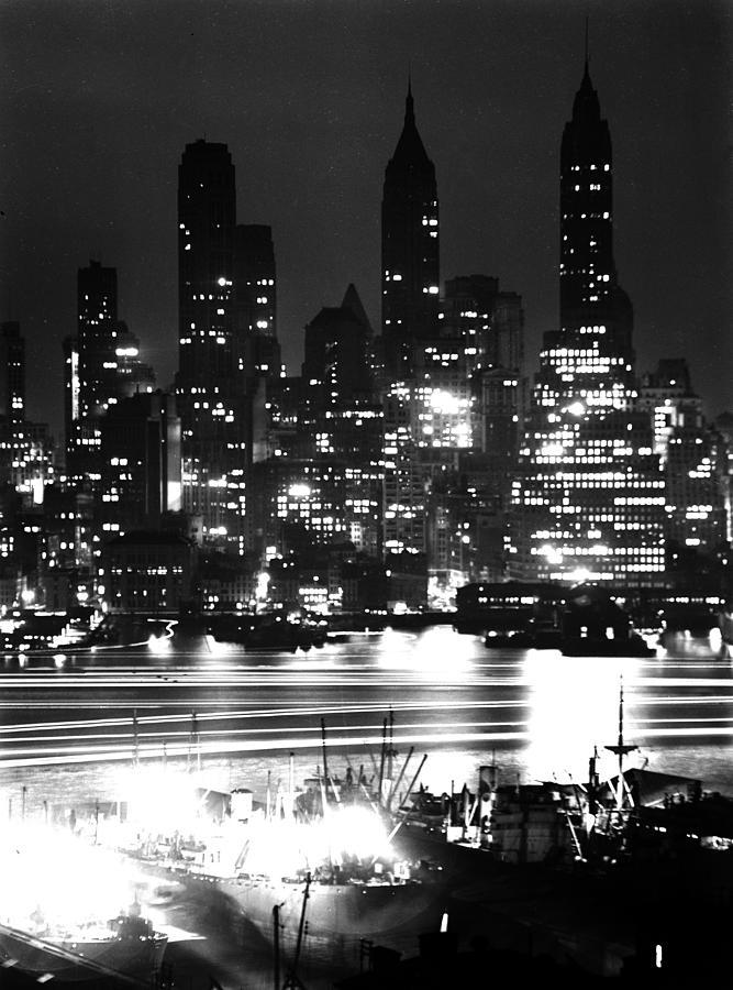 Manhattan Skyline Photograph by Andreas Feininger