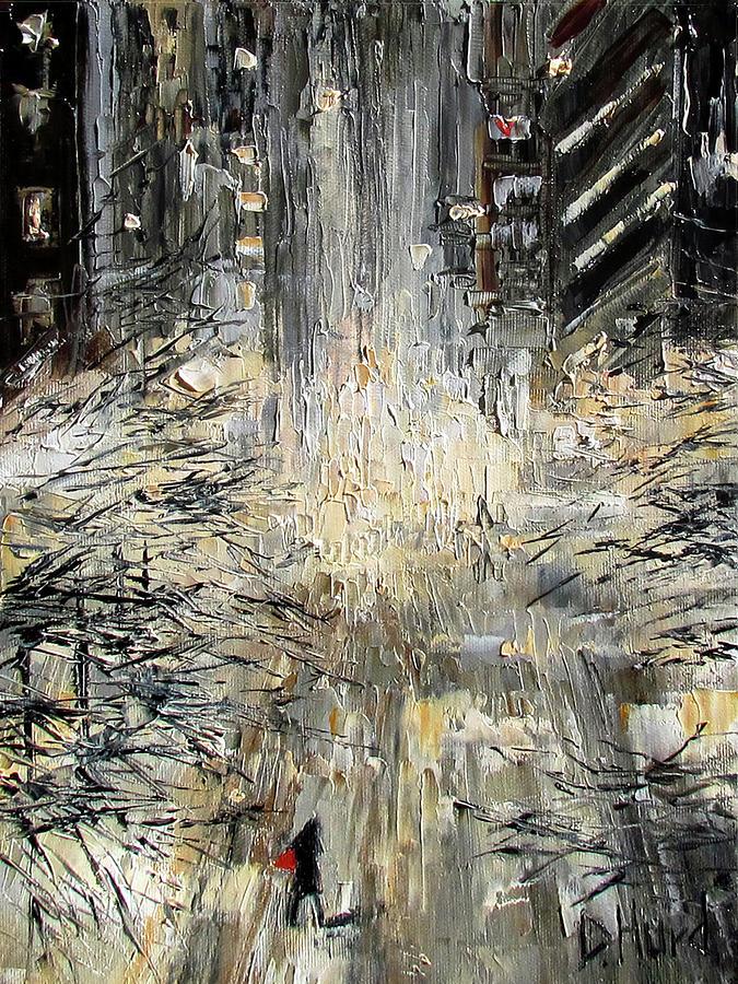 Nyc Painting - Manhattan Snow Storm by Debra Hurd