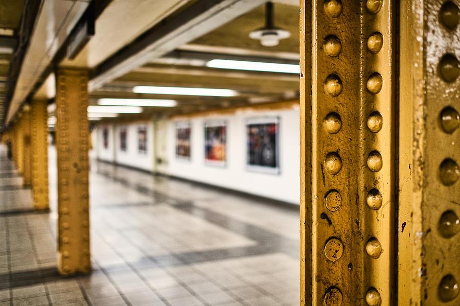 Manhattan Subway Station by Stuart Litoff
