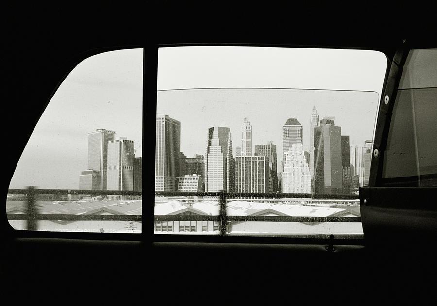 Manhattan Through Car Window Photograph by Matt Carr