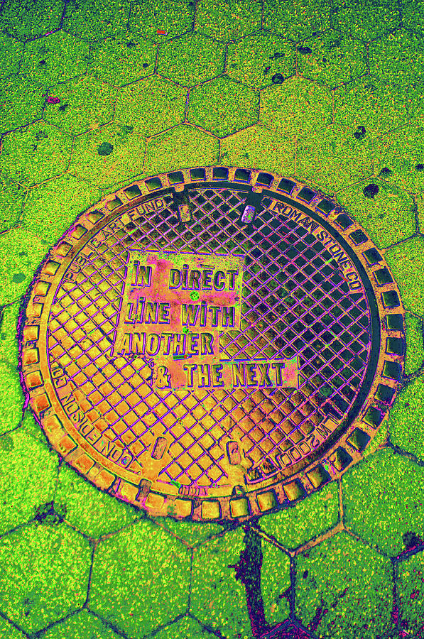Manhole cover in the Village New York City by Ron Brown Photography