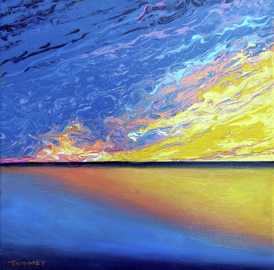Seascape Painting - Manifesto, The Gulf Sun by Catherine Twomey