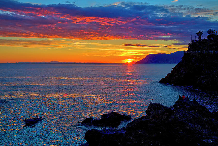 Manirola, Cinque Terre, Italy Sunset by Lowell Monke