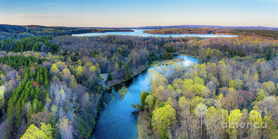 Manistee River Photograph - Manistee River And Hodenpyle Dam Aerial by Twenty Two North Photography