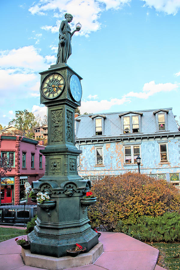 Manitou Springs Wheeler Clock by Kristia Adams