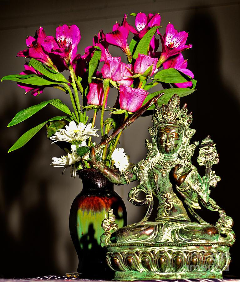 Manjushri Photograph - Manjushri- Bodhisattva Of Wisdom by Lita Kelley