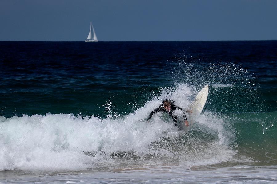 Manly Beach Surfer by Sarah Lilja