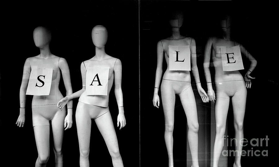 Mannequin In Window Display With Sale Photograph by Yvano