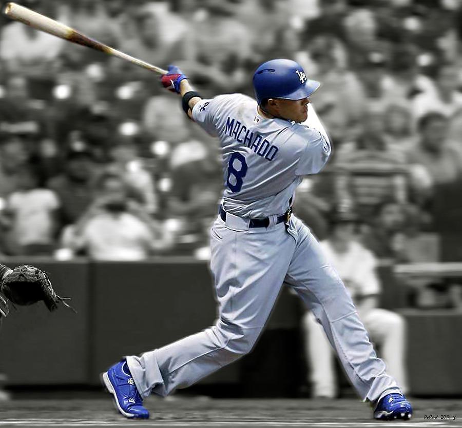 brand new 04db7 6d121 Manny Machado, Los Angeles Dodgers, Home Run