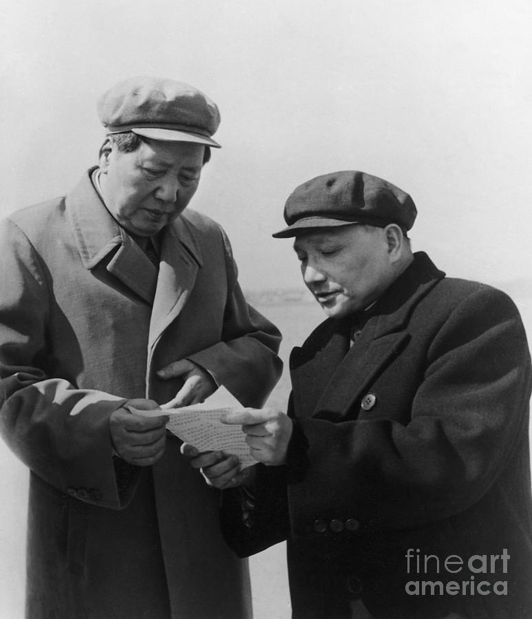Mao Tse-tung And Deng Xiaoping Photograph by Bettmann