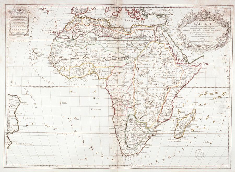 Map Of Africa Digital Art by Fototeca Gilardi