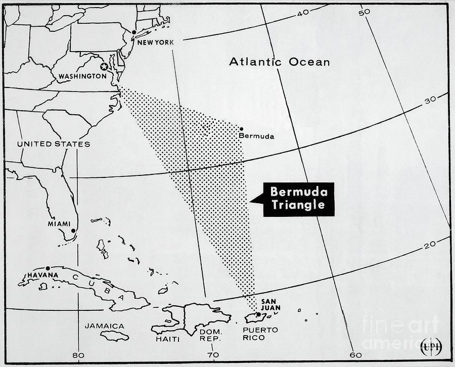 Map Of Bermuda Triangle Photograph by Bettmann