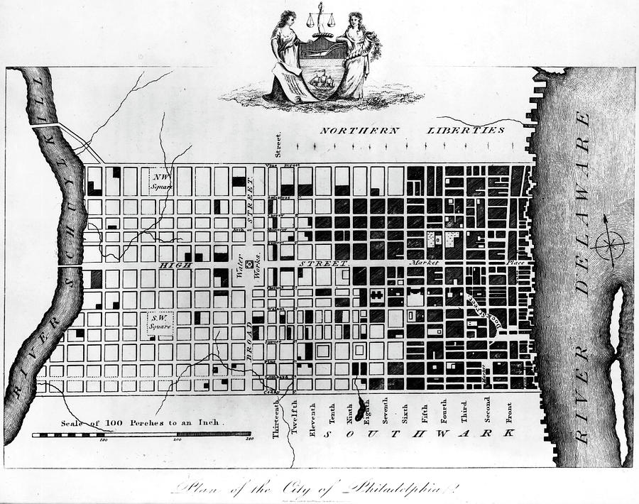 Map Of Colonial Philadelphia Photograph by Hulton Archive