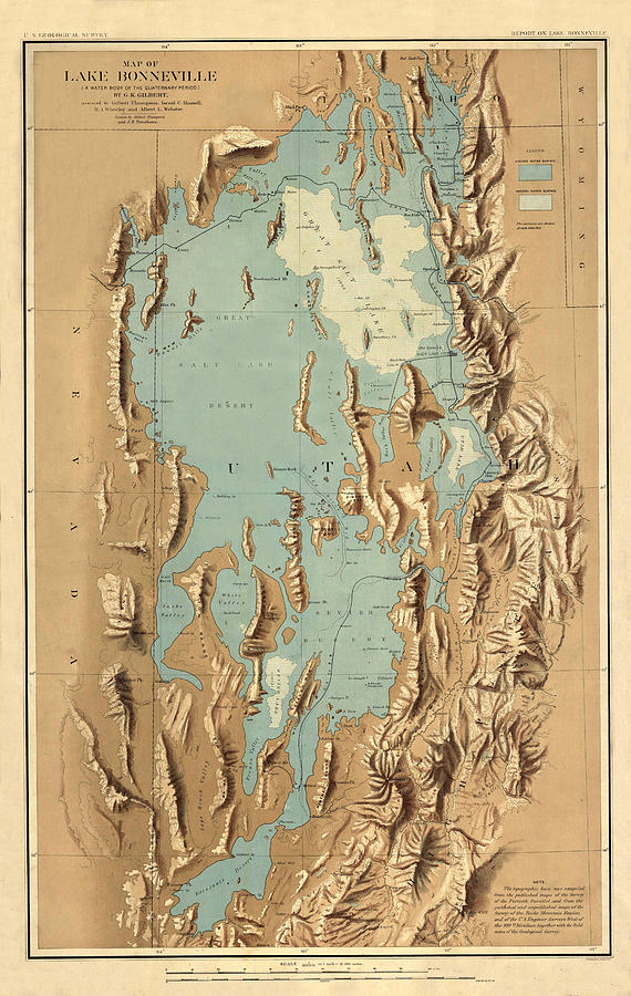 Map 1900.Map Of Lake Bonneville 1900 By Andrew Fare
