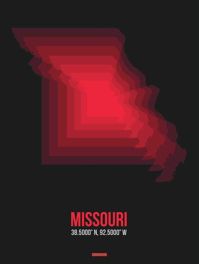 Missouri Digital Art - Map Of Missouri 4 by Naxart Studio
