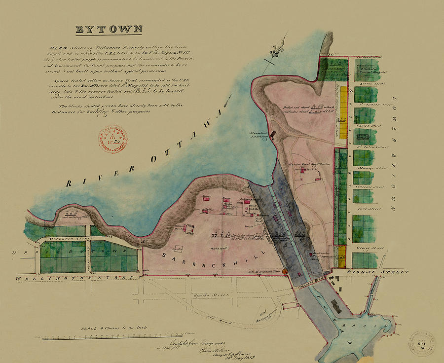 Map Of Ottawa 1853 by Andrew Fare