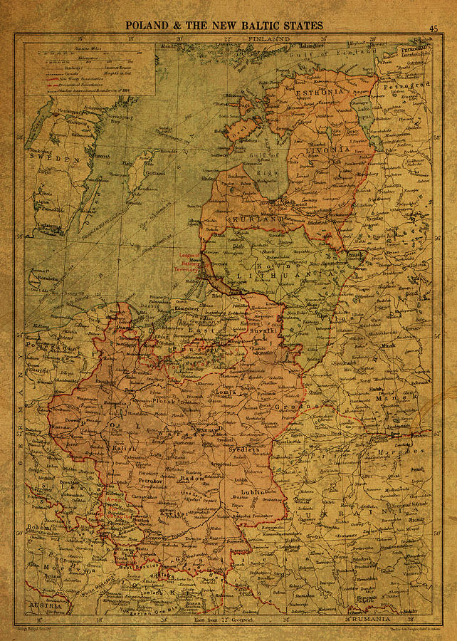 Map Of Poland And Baltic States 1920