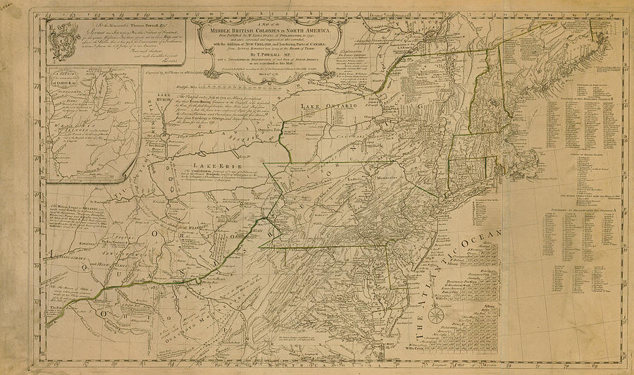 Map Of United States In 1776 Including by Historic Map Works Llc