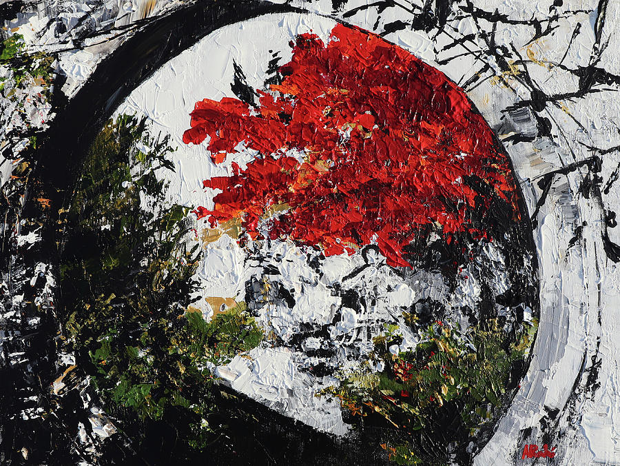 Maple Tree Painting - Maple Tree 2 201908 Bonsai Penjing Museum National Arboretum by Alyse Radenovic