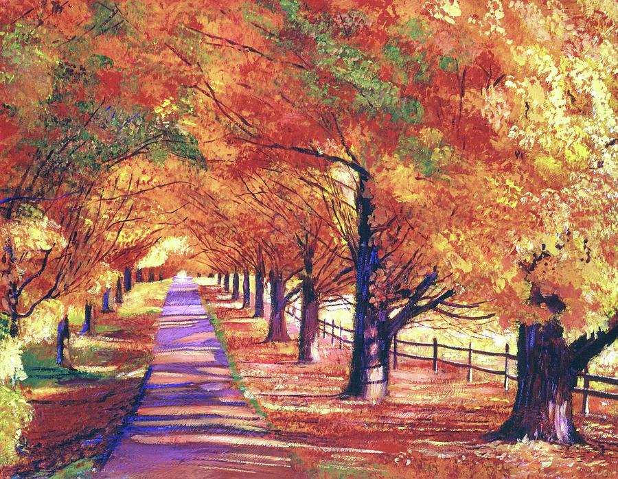 Maple Tree Lane Painting