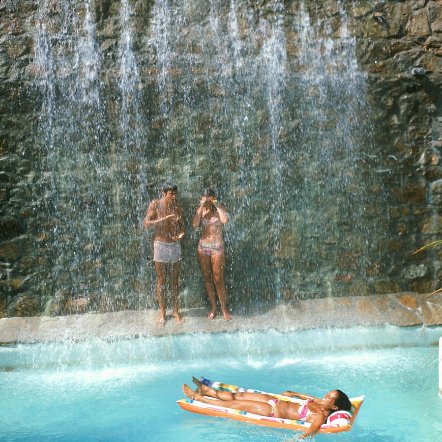 Marbella Club Waterfall Photograph by Slim Aarons