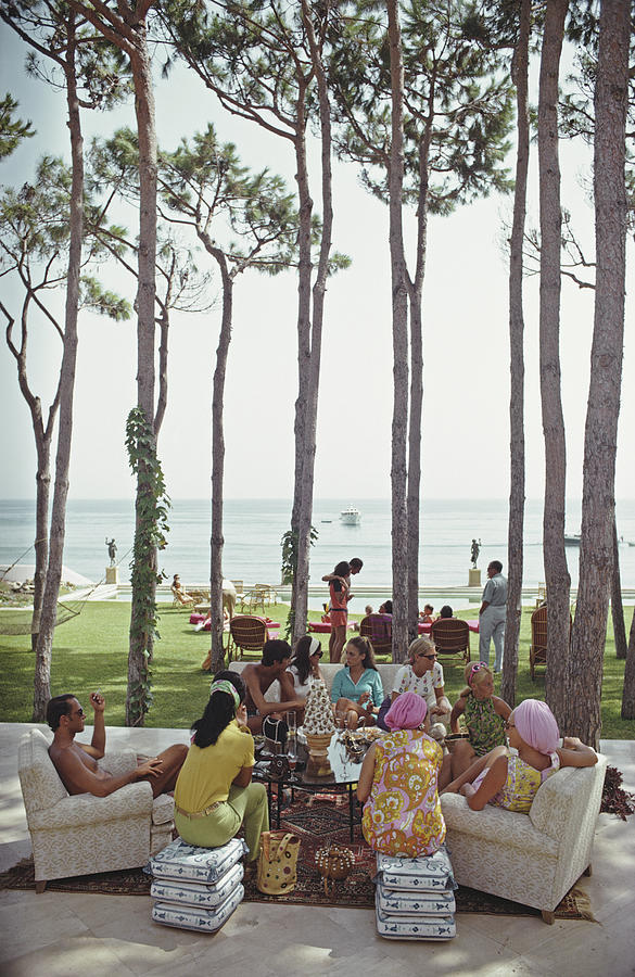 Marbella House Party Photograph by Slim Aarons