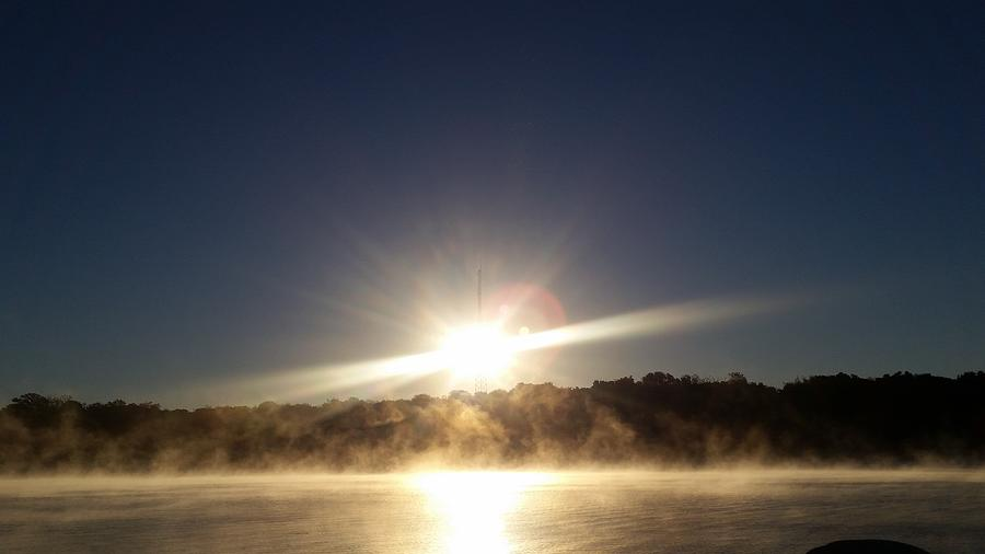 Marble Falls Morning Fog by KRISTIN MCDONNEL