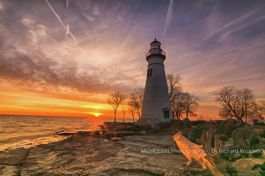 Marblehead Lighthouse Sunrise  by Richard Kopchock