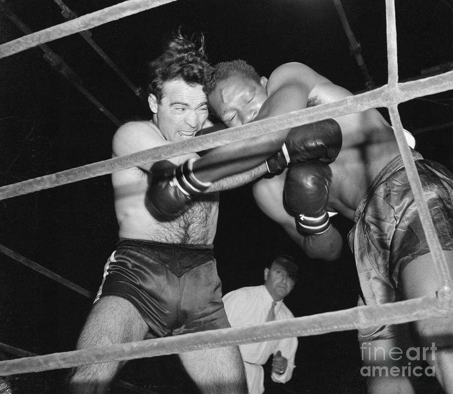 Marcel Cerdan And Holman Williams Boxing Photograph by Bettmann