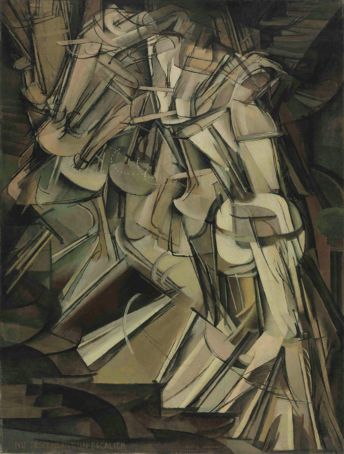 Marcel Duchamp Painting - Marcel Duchamps Nude Descending a Staircase, No. 2 1821 by Vintage Images