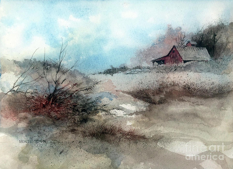 March Fields Painting by Monte Toon